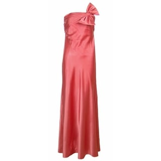 Adrianna Papell Boutique Strapless Gown with Bow Coral 6