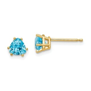 Link to 14K Yellow Gold 5mm Trillion Blue Topaz Earrings by Versil Similar Items in Earrings