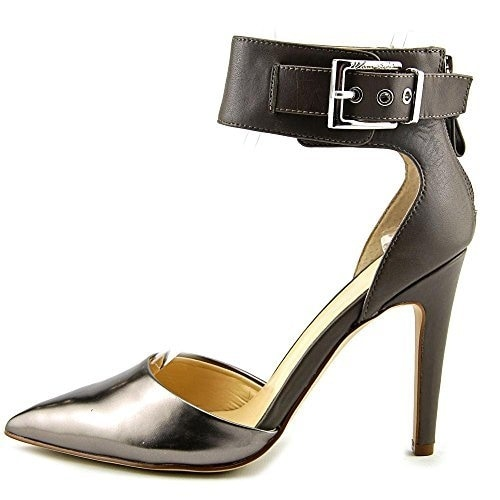 Marc Fisher Womens MIVIE Leather Pointed Toe Ankle Strap D-orsay Pumps - 10
