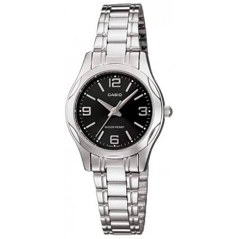 Casio Women's LTP-1275D-1A2 'Casual' Stainless Steel Watch - Black