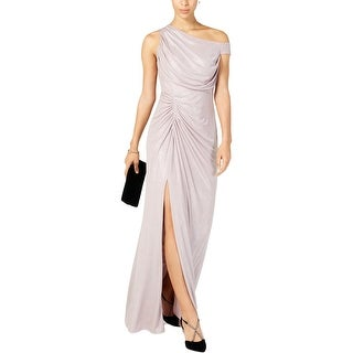 Link to Adrianna Papell Womens Evening Dress Cold-Shoulder Metallic - Quartz Similar Items in Dresses