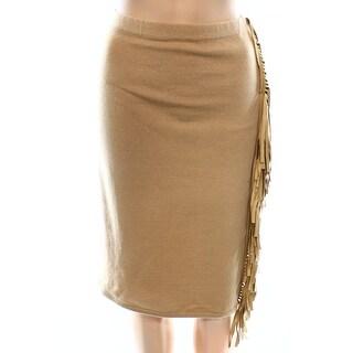 Lauren Ralph Lauren NEW Beige Women Large L Straight Pencil Wool Skirt