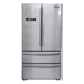 """Thor Kitchen HRF3601F 36"""" Wide 21 Cu. Ft. Capacity French Door Refrigerator with Dual Air Cooled Refrigeration System"""