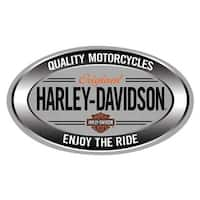 "Harley-Davidson Enjoy Ride Oval Embossed Tin Sign, 18 x 10.5 inches 2011591 - 18"" x 10.5"""