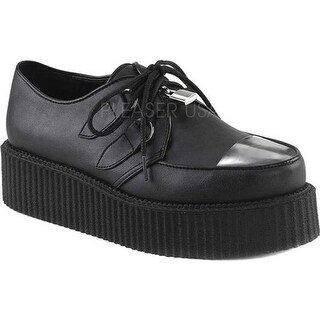 Demonia Men's V Creeper 515 Oxford Black Vegan Leather