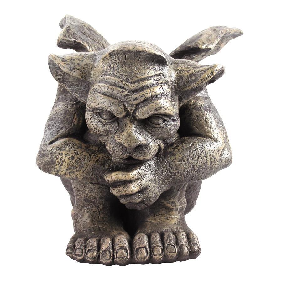 Set of Two Small Design Toscano Emmett the Gargoyle Sculpture