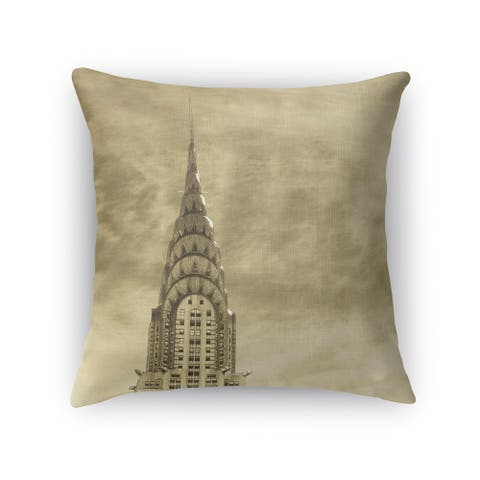 Kavka Designs grey skyline accent pillow with insert
