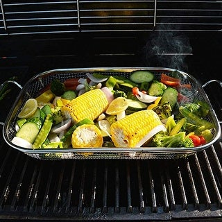 Link to Stainless Steel Barbecue Basket Drain Basket BBQ Barbecue Basket - 38x28x5cm Similar Items in Picnic