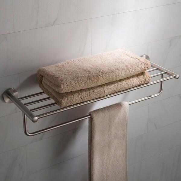 KRAUS Elie Bathroom Shelf with Towel Bar. Opens flyout.
