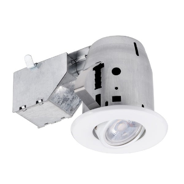 "Globe 91194 LED Recessed Directional Downlight Kit, Frost, White, 3"" W"