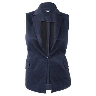 Tommy Hilfiger Women's Denim Ponte Vest (12, Indigo)