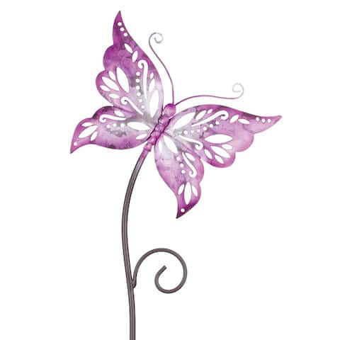 Fuchsia Butterfly Garden with Stake - Pink