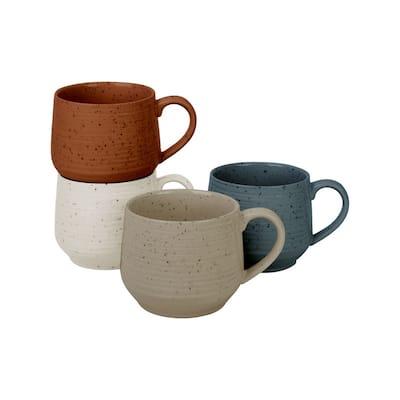 Sango Siterra Painters Palette Mixed Set of 4 Mugs