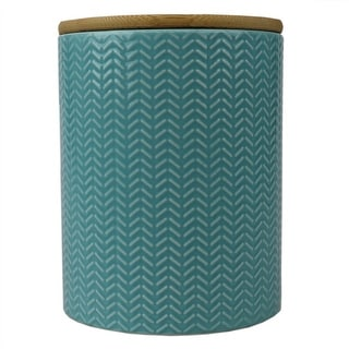 Link to Wave Medium Ceramic Canister, Turquoise Similar Items in Kitchen Storage