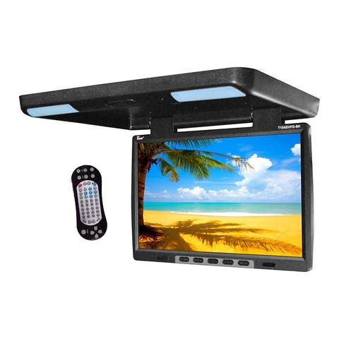 Tview t154dvfd tview 15.4 flip down monitor with built in dvd ir/fm trans black