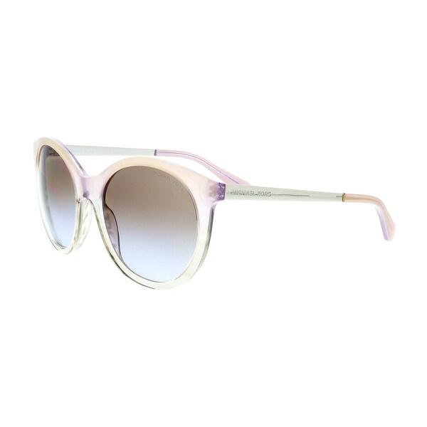 268f805dd5813 Michael Kors MK2034 350668 ISLAND TROPICS Pink Gradient Round Sunglasses -  55-18-140