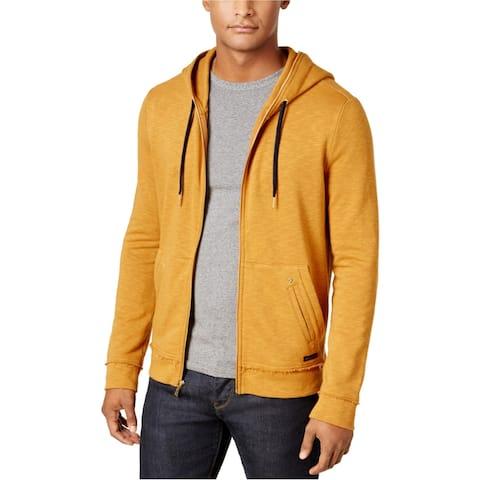Sean John Mens Drop Tail Hoodie Sweatshirt, Brown, XX-Large