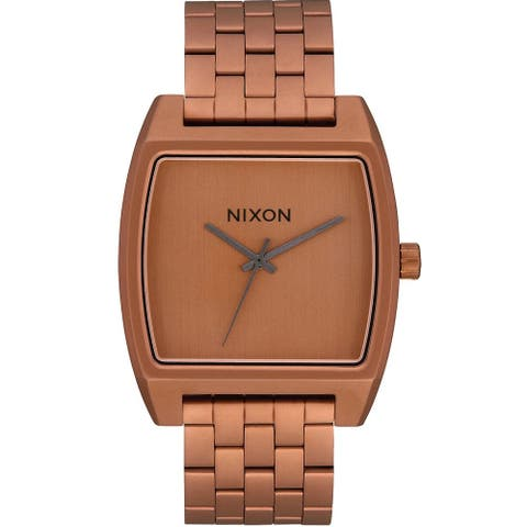 Nixon Men's Time Tracker Brown Dial Watch - A1245-3165 - One Size
