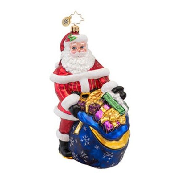 Christopher Radko Glass Wrapped Up, Ready to Go Christmas Ornament #1016855 - multi