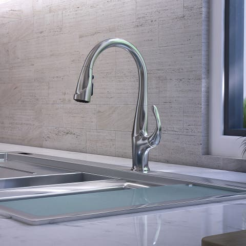 Kauai Collection. Pull-Down kitchen faucet. Chrome finish. By Lulani