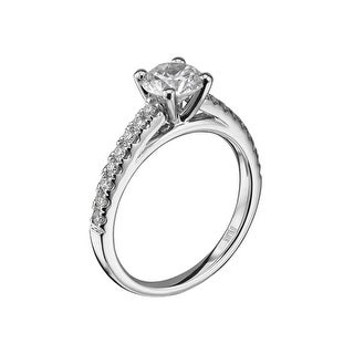 14kt White Gold (H/SI) Ladies 0.26CT Semi Mount Wedding Band from the Luminaire Collection by Scott Kay