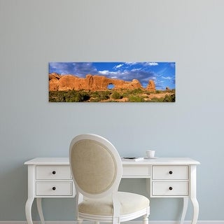 Easy Art Prints Panoramic Images's 'Arches National Park UT USA' Premium Canvas Art
