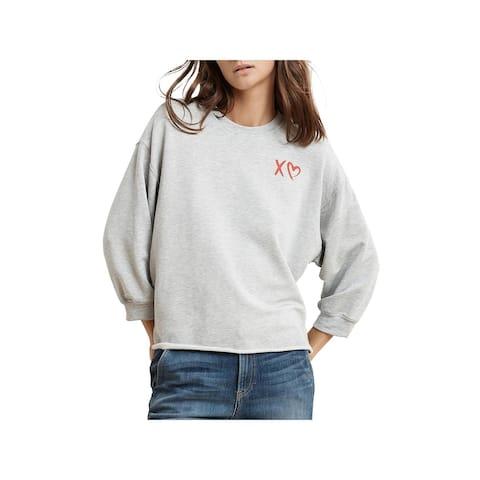 VELVET BY GRAHAM & SPENCER Womens Sweatshirt Graphic Cne
