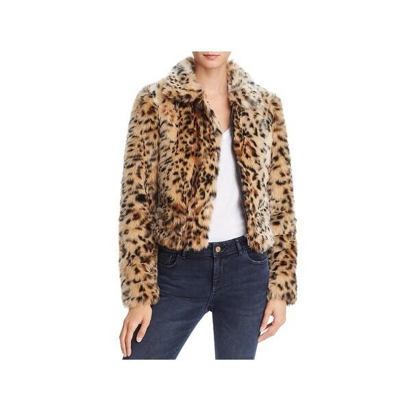 78e85e919a Shop Joe's Jeans Womens Kate Faux Fur Jacket Winter Leopard Print ...