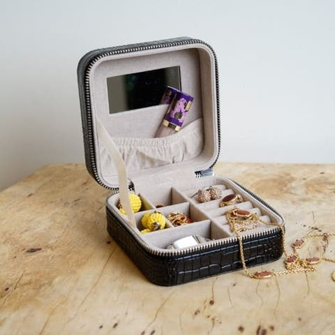 Hives & Honey Mya Square Jewelry Travel Case Jewelry Organizer