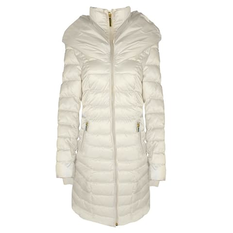 Laundry by Shelli Segal White Maxi Coat Puffer
