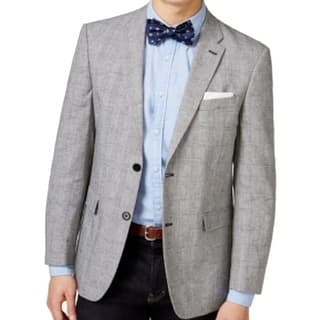 Tommy Hilfiger NEW Gray Heather Mens Size 42R Two-Button Plaid Jacket|https://ak1.ostkcdn.com/images/products/is/images/direct/9dd8f5cdc88be2359c0be74d4b8a6e45b215e49b/Tommy-Hilfiger-NEW-Gray-Heather-Mens-Size-42R-Two-Button-Plaid-Jacket.jpg?impolicy=medium
