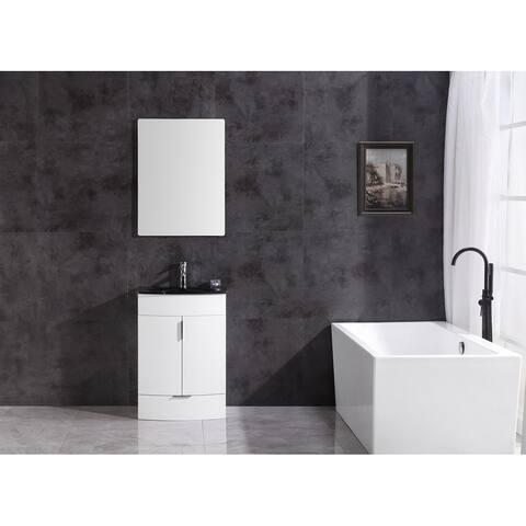 "Legion Furniture 24"" White SINK VANITY WTM8130-24-W-PVC"