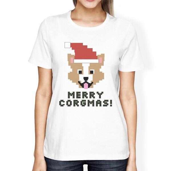 Shop Merry Corgmas Corgi T-Shirt For Womens Christmas Gift Dog Mom ...