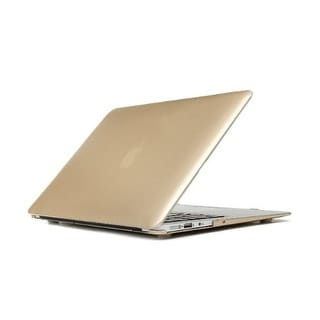 """AGPtek 3in1 Golden Hard Rubberized Case Keyboard Cover Screen Film for Macbook Air 13"""" 13.3"""" A1369/A1466 + Screen cover"""