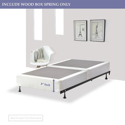 ONETAN ,8-Inch Wood Fully Assembled Split Box Spring/Foundation For Mattress.