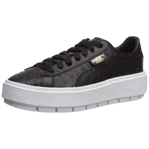 4ef6a5dde64519 Shop PUMA Women s Platform Trace Ostrich Sneaker - 9 - Free Shipping ...