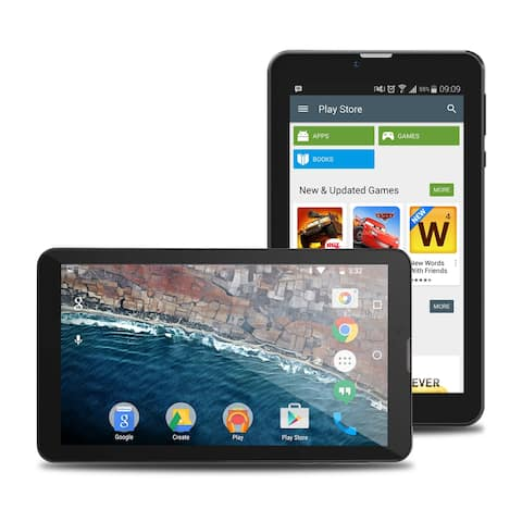 """Indigi® Android 6.0 DualCore 7.0"""" HD Entertainment TabletPC w/ Bluetooth Sync + WiFi + Expansion Slot + Dual Cameras"""
