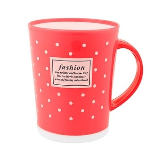 Family Bathroom Polka Dot Pattern Cylinder Shaped Toothbrush Washing Cup Red