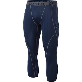 Tesla MUC08 Cool Dry Baselayer 3/4-Length Compression Tights - Navy/Navy