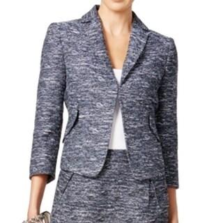 Tommy Hilfiger NEW Blue Women's Size 16 Tweed Notched Seamed Jacket