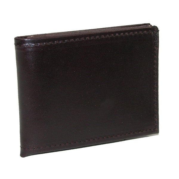 Boston Leather Men's Smooth Leather Billfold Wallet - One size