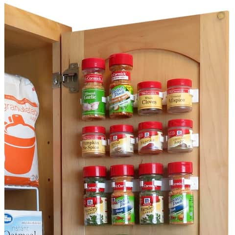Evelots Spice Clip Strips-Mounted Organizer-Strong Hold-In/Out Cabinet-Set/3 - Set of 3