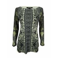 Style & Co. Women's Long Sleeve Embellished Tunic Top - lost lace - pm
