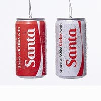 """Club Pack of 24 Red and White """"Share A Coke with Santa"""" Ornaments 3"""""""