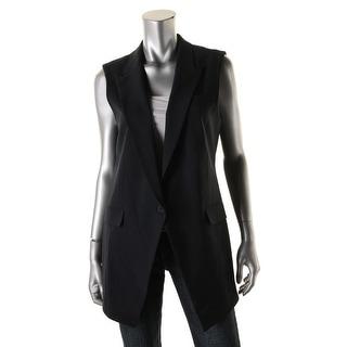 Theory Womens Flavio Faux Pockets Double Vent Suit Vest