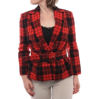 Love Moschino Women Stripped One Snap Jacket Basic Jacket 3009 Blk/Red