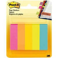 "Assorted - Post-It Page Markers .5""X1.75"" 5/Pkg"