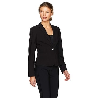 Link to Calvin Klein Women's One Button Lux Jacket, Black, 2 Similar Items in Suits & Suit Separates
