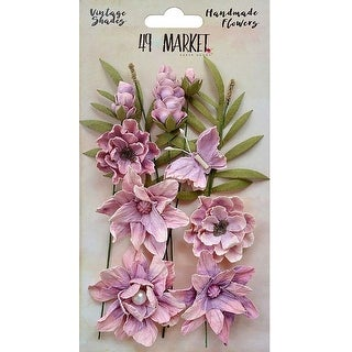 Orchid - 49 And Market Vintage Shades Cluster Flowers 13/Pkg