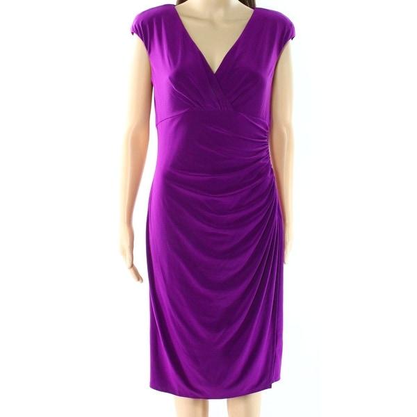 Lauren Ralph Lauren NEW Purple Women's Size 10 Jersey Sheath Dress